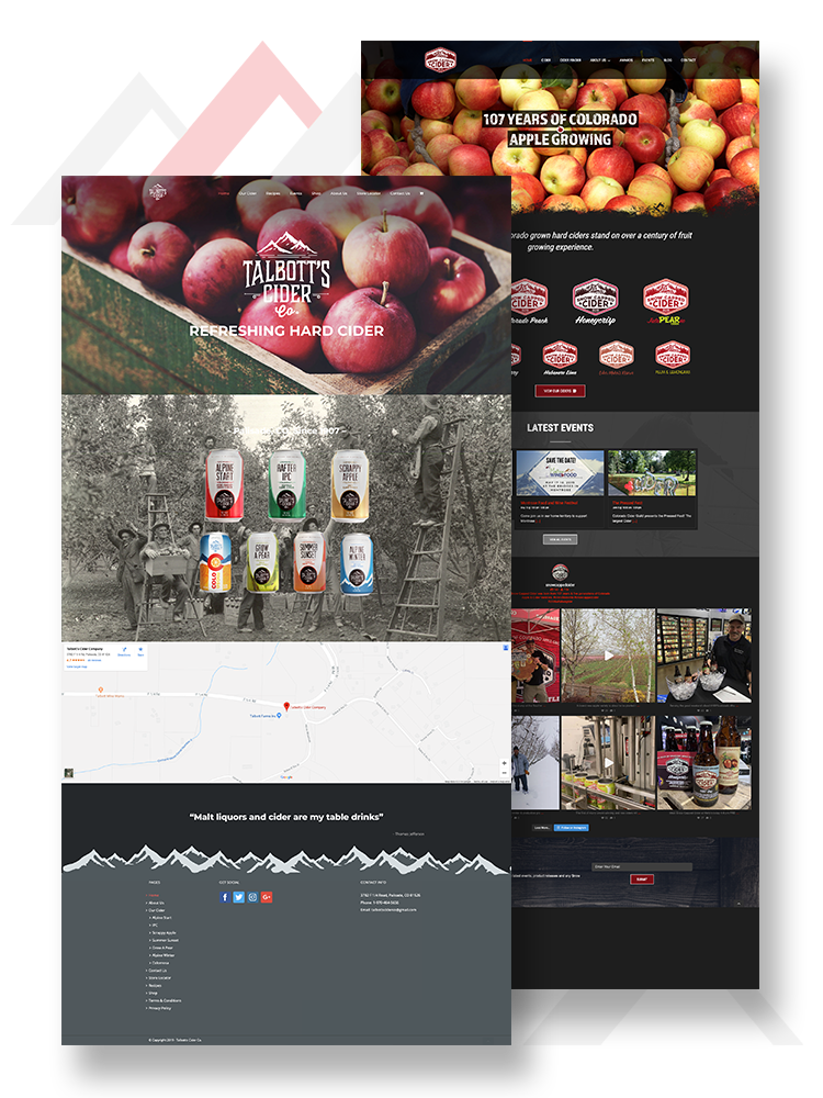 website design Talbot cider